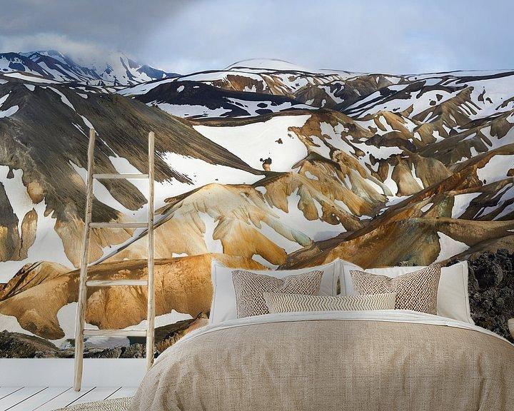 Sfeerimpressie behang: Landmannalaugar IJsland van Jeroen Kleiberg
