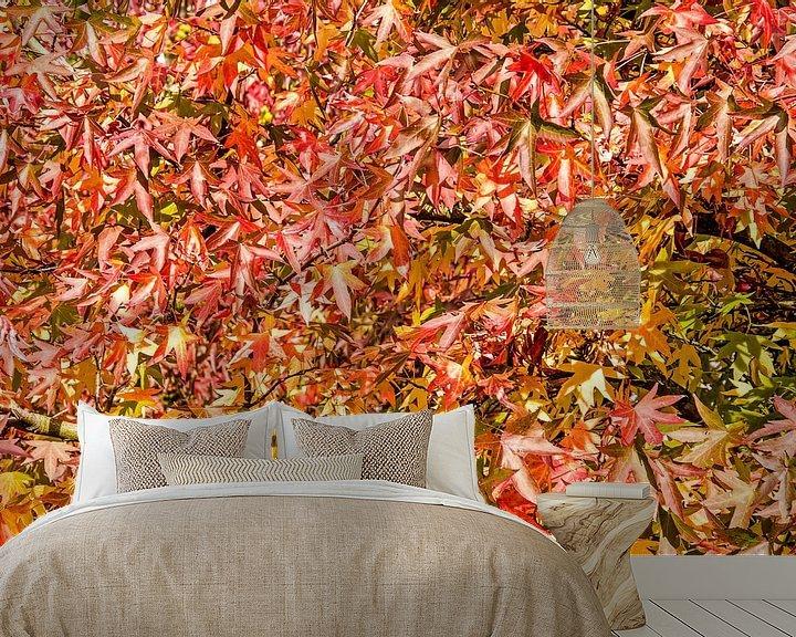 Sfeerimpressie behang: Amberbladeren van Frans Blok