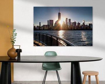 Lever de soleil dans le quartier financier de New York sur Kurt Krause
