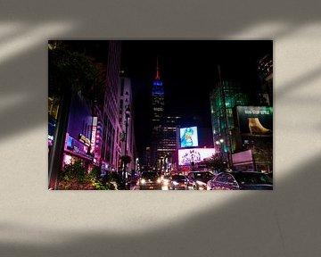 Empire State Building bij nacht van Kurt Krause