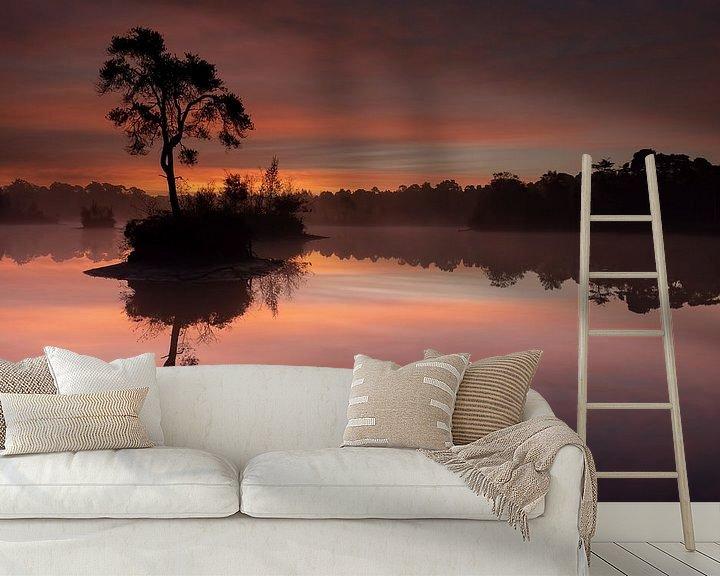 Sfeerimpressie behang: Sunrise in Oisterwijk van Freddy Van den Buijs