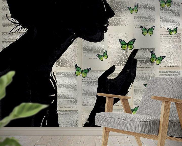 Sfeerimpressie behang: SIMPLICITY IN GREEN van LOUI JOVER
