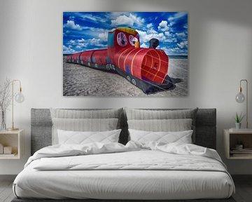 Drachenfestival Heiligenhafen Lokomotiv Drachen von Dirk Bartschat