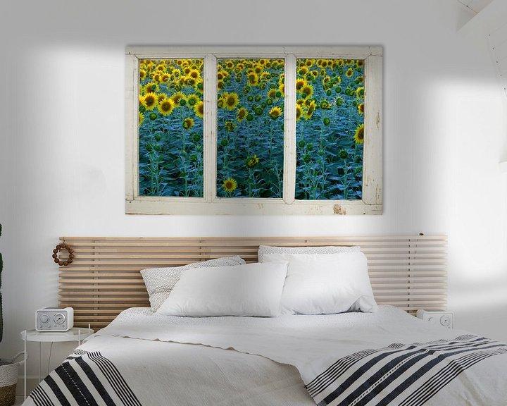 Sfeerimpressie: Zonnebloemenboerderijraam van Co Seijn