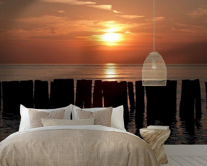 Beispiel fototapete: Sonnenuntergangs strand Zoutelande von MSP Canvas