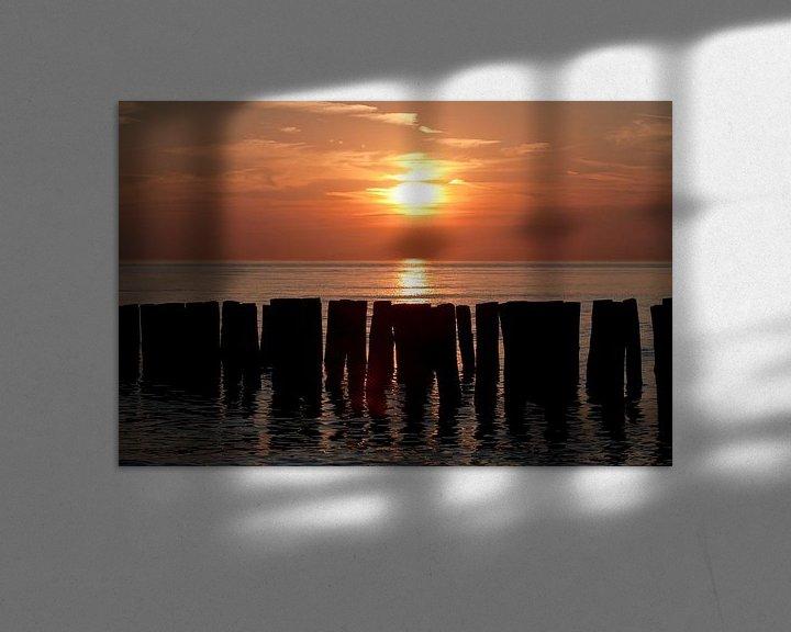 Beispiel: Sonnenuntergangs strand Zoutelande von MSP Canvas