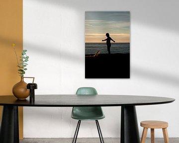 Garçon avec cerf-volant sur MSP Canvas