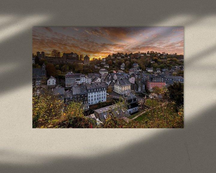 Sfeerimpressie: Zonsondergang in Monschau van Bert Beckers