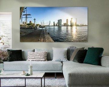 Rotterdam Skyline | Zonsopgang vanaf de Veerhaven van Ricardo Bouman