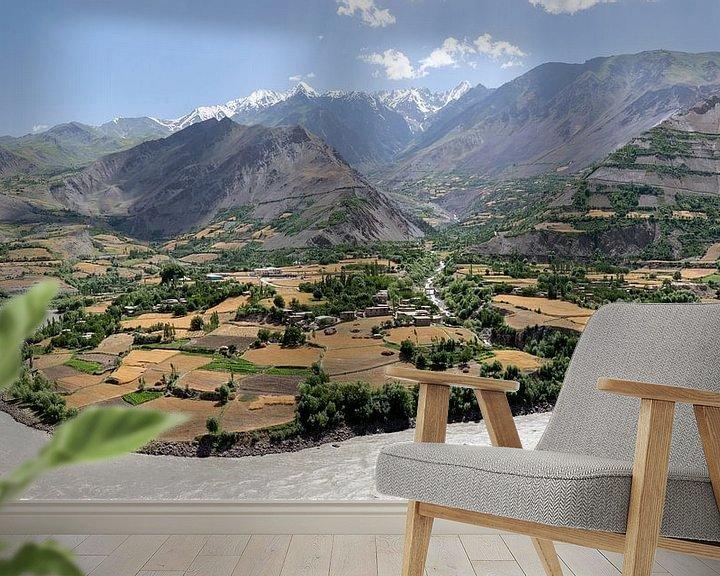 Sfeerimpressie behang: Afghanistan panorama van Jeroen Kleiberg