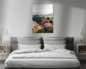 Montagnes de l'atlas au maroc Tirage photo de la Kasbah Bab Ourika Photographie de voyage dans les m sur Raisa Zwart