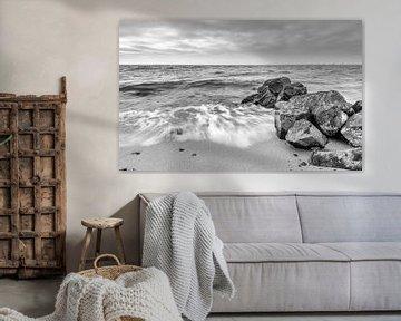 Golven in zwart-wit van Martien Hoogebeen Fotografie