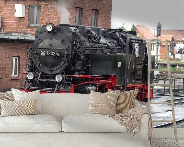 Sfeerimpressie behang: locomotief van Paul Hinskens