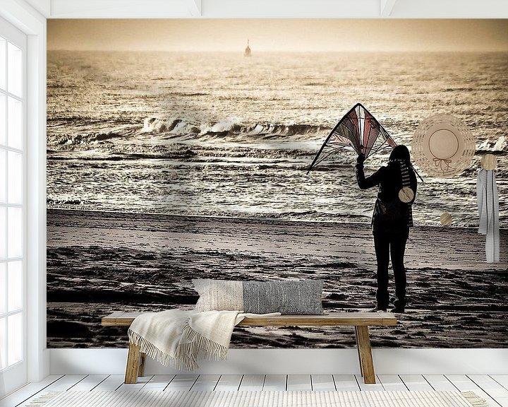 Sfeerimpressie behang: Come fly with me. van Michel Derksen