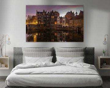 Historisches Delfshaven, Rotterdam mit Sonnenaufgang von Arisca van 't Hof