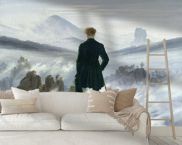 Beispiel fototapete: Der Wanderer über dem Nebelmeer, Caspar David Friedrich