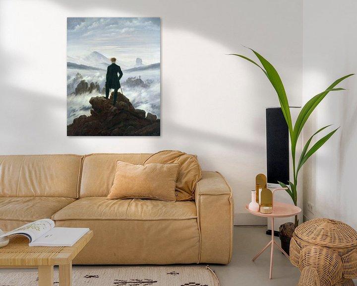 Beispiel: Der Wanderer über dem Nebelmeer, Caspar David Friedrich