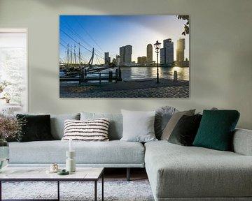 Zonsopgang in Rotterdam vanaf de Veerhaven van Ricardo Bouman
