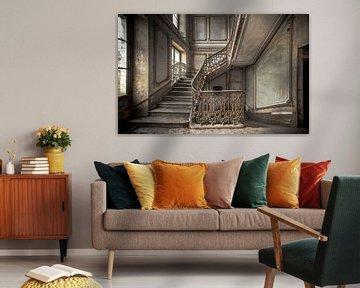 Treppe in einem Schloss von Olivier Photography