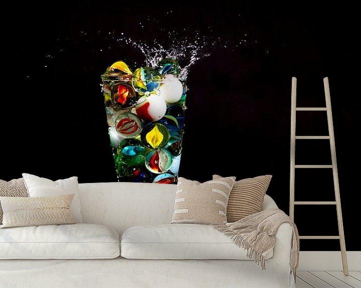 Beispiel fototapete: Knikker in glas _6 von Henry Nijen Twilhaar