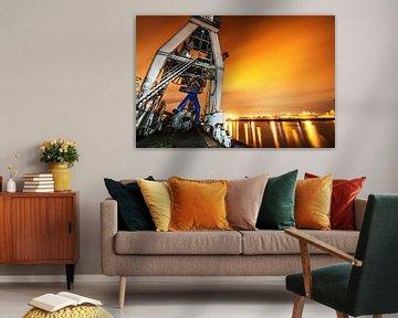 Lightpainting im Hamburger Hafen von Dirk Bartschat