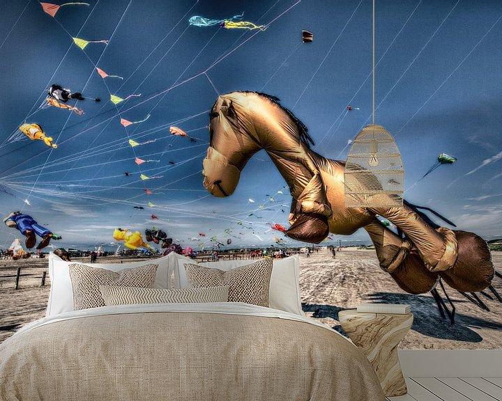 Beispiel fototapete: Drachenfestival in Sankt Peter Ording von Dirk Bartschat