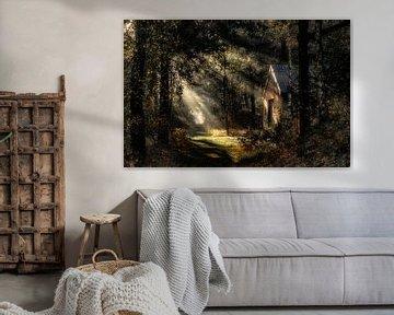 Huisje in het bos von Yori Hurkmans