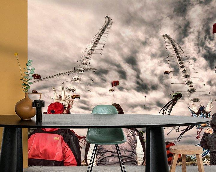 Beispiel fototapete: Drachenfest Fehmarn von Dirk Bartschat