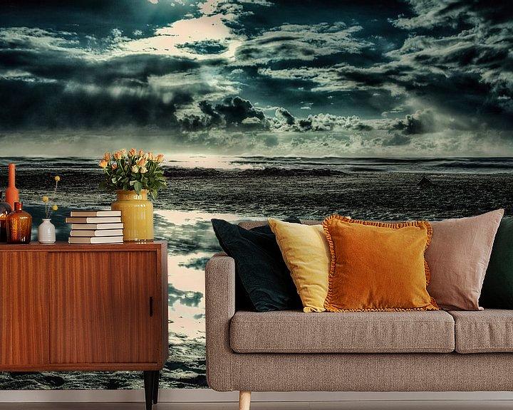 Beispiel fototapete: Dänemark Strand mit Wasserspiegelung von Dirk Bartschat