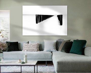 Paalhoofd  zwart wit von Ingrid Van Damme fotografie