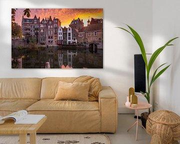 Historisch Delfshaven, Rotterdam bij zonsopkomst van Arisca van 't Hof