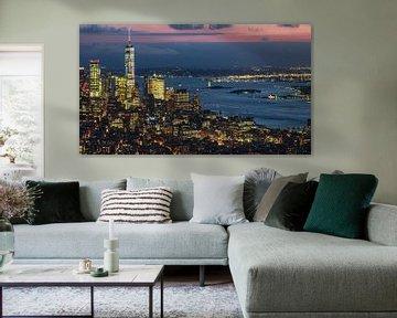 Un seul monde et l'Hudson River New York sur Kurt Krause