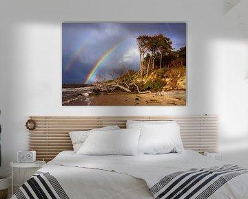 Regenbogen über dem Weststrand von Daniela Beyer
