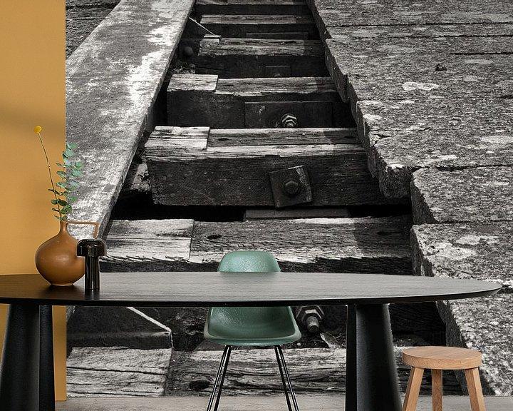 Beispiel fototapete: verlaten  spoorweg von Jean Jacobs