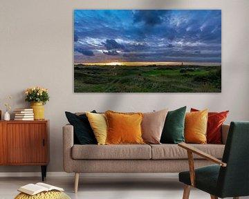 Vuurtoren Texel prachtige zonsondergang van Texel360Fotografie Richard Heerschap