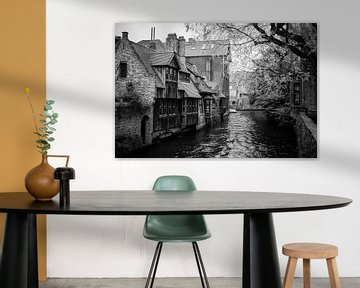 Brugge kanaal in zwartwit von MICHEL WETTSTEIN