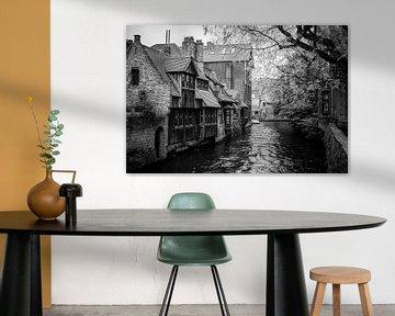 Brugge kanaal in zwartwit van MICHEL WETTSTEIN