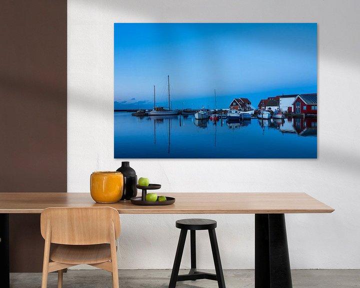 Beispiel: Blick auf den Hafen von Klintholm Havn in Dänemark von Rico Ködder
