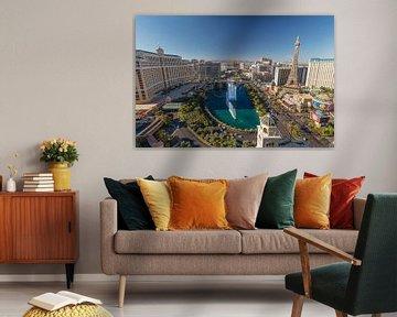 Uitzicht over Las Vegas van Edwin Mooijaart