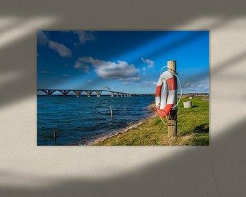 Eine Brücke zwischen Seeland und Moen in Dänemark von Rico Ködder