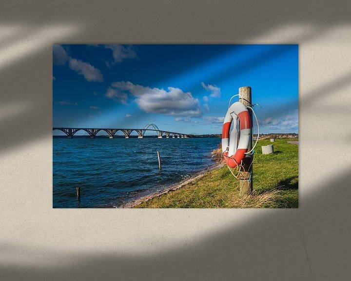 Sfeerimpressie: A bridge between Seeland und Moen in Denmark van Rico Ködder