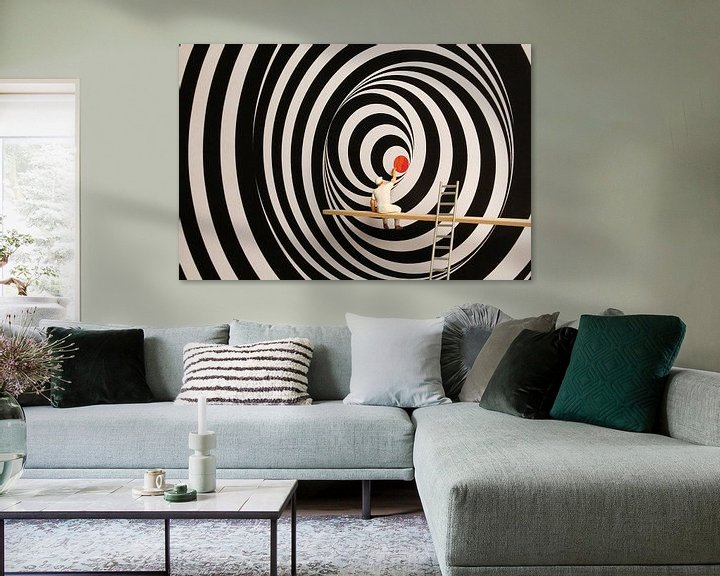Sfeerimpressie: op art van Remko Killaars