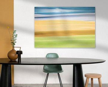 Abstracte weergave van een landschap van Tonko Oosterink