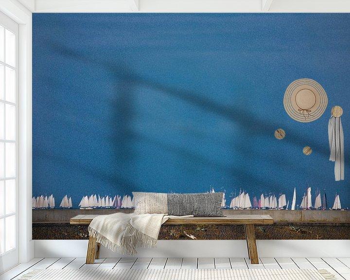 Sfeerimpressie behang: Brandarisrace van Jetty Boterhoek