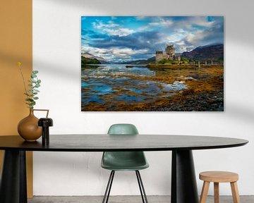 Ansicht des Castle Eilean Donan von Lars van de Goor