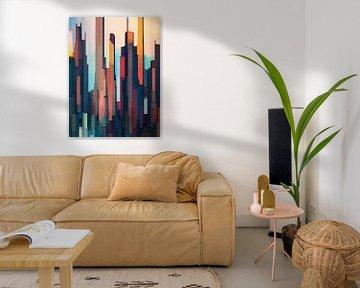 19. City-art, Abstract, skyscrapers, NY.