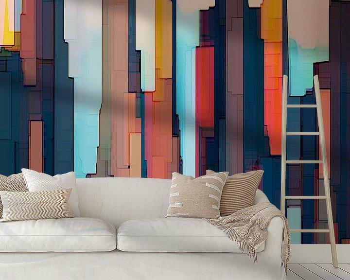 Beispiel fototapete: 19. Stadtkunst, Abstrakt, Wolkenkratzer, NY. von Alies werk