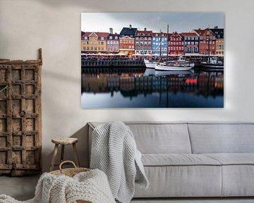 """Nyhavn """" nieuwe haven"""" Kopenhagen van Jiri Viehmann"""