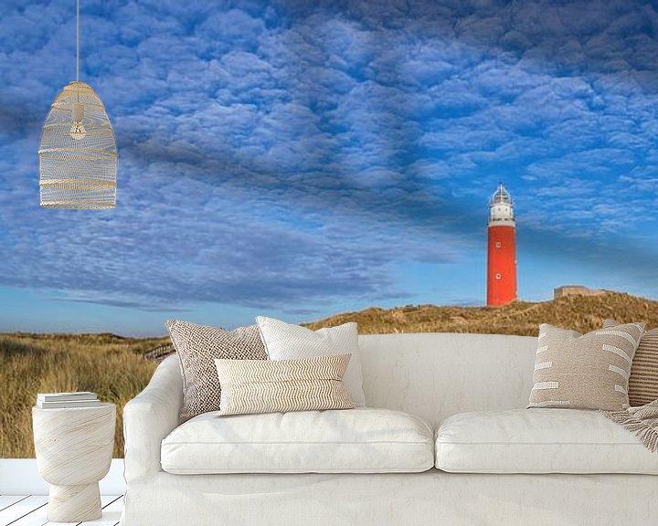 Sfeerimpressie behang: Panorama Texel duinlandschap / Texel dune landscape van Justin Sinner Pictures ( Fotograaf op Texel)
