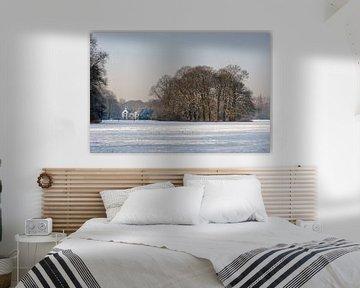 Winterlandschap bij Utrecht - landgoed Amelisweerd van Remke Spijkers